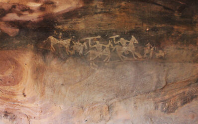 Rock Shelter and paintings of bhimbetka, Madhya Pradesh